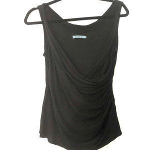 Velvet Brand Black Layered and Draped Tank top